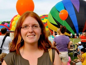 Julia Davis, HAI's Education and Outreach Coordinator, at the Albuquerque Balloon Fiesta