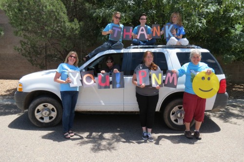 A huge thank you to PNM for our new-to-us vehicle.
