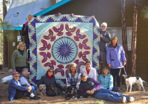 The 2014 HAI Raffle Quilt and Quilt Team
