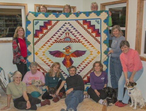 The 2015 Hawks Aloft Raffle Quilt and Quilt Team