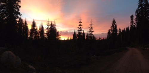 Sunset in the Eldorado National Forest on the Amador Ranger District taken by Hannah Wheelen.