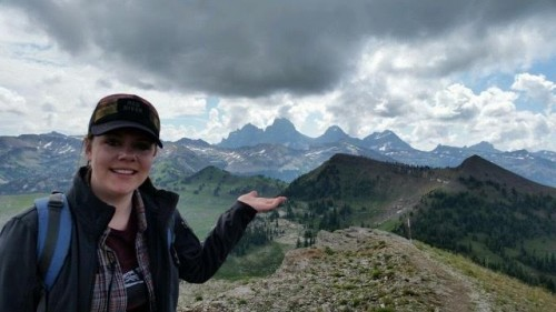 Amanda in the Grand Tetons during the summer of 2015