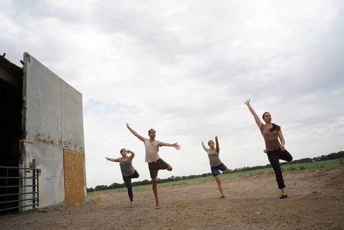 "From ""Golden Migration,"" a site-specific work by choreographer and dancer, Lisa Nevada"
