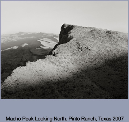 """Macho Peak Looking North,"" Pinto Ranch, TX, 2007. By Michael Berman"